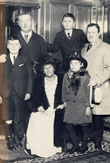 William Burns and family with Sir Arthur Conan Doyle