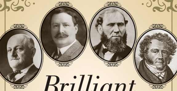 Portraits from front cover of Brilliant Deduction