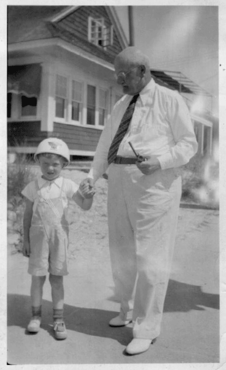 Ellis Parker and a grandson
